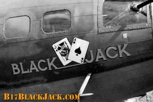 "B-17F Black Jack - The ""Black Jack"" on Black Jack..."