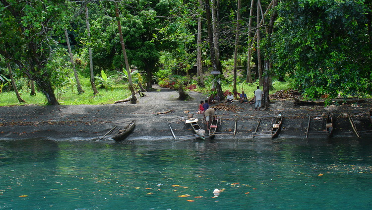 Dinah's Beach - The village of Lauadi on the north coast of Milne Bay