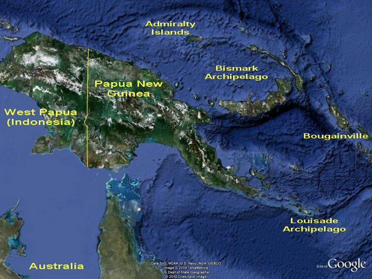 Image result for papua new guinea map