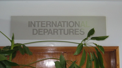 Milne Bay Province Logistics - Alotau airport International Departure Lounge
