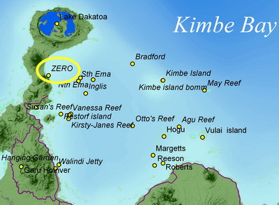 Location map for the Kimbe Bay Zero Wreck