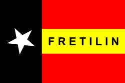 Timor Leste Overview and History - Flag_FRETILIN_250