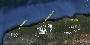 Timor Leste Coastal Dive Sites - West of Dili Dive Site Map