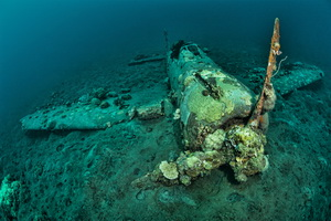 Guide to Diving Kimbe Bay - The Mitsubishi Zero Wreck in Kimbe Bay