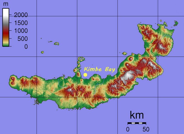 Kimbe Bay overview - The incredible topography of New Britain