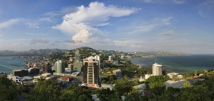 Guide to Diving Port Moresby - The view over Port Moresby from Paga Hill