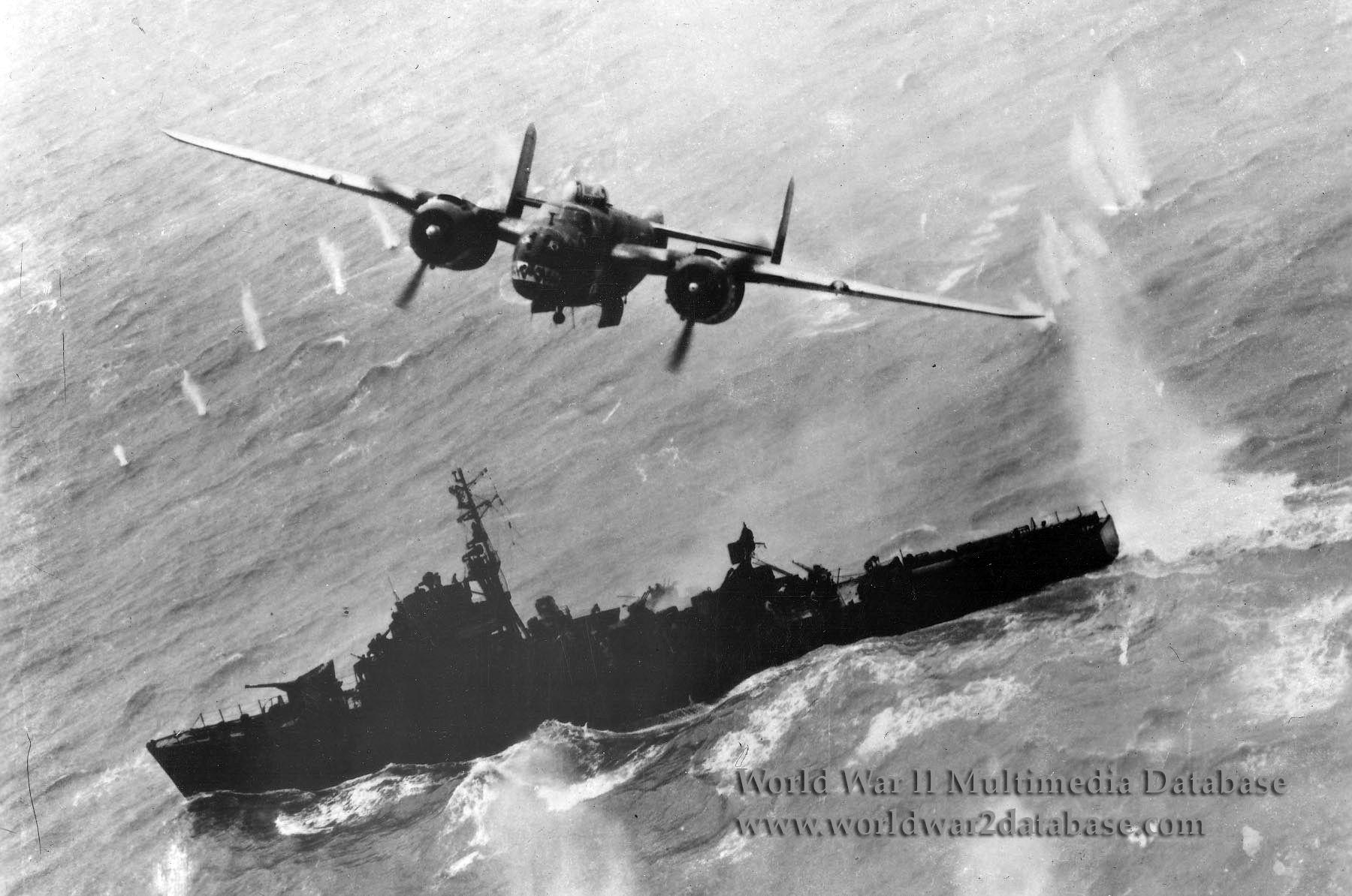 """History of the B-17F Black Jack Wreck - A B-25J Mitchel Bomber """"Skip Bombing"""" during WWII"""