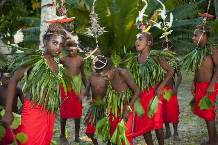 "New Ireland Province - A Traditional ""Sing Sing"" at Lissenung Resort near Kavieng"