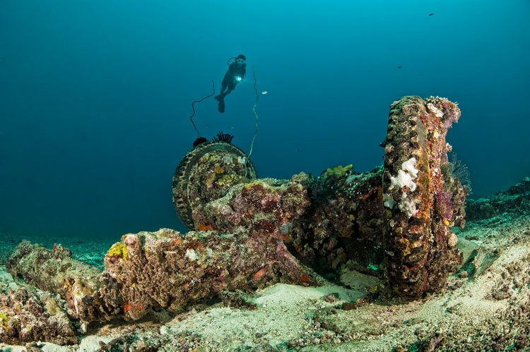 Catalina Wreck - The Undercarriage of the Catalina Wreck
