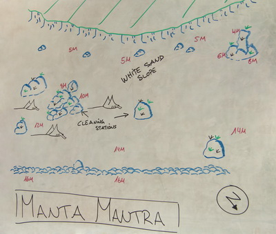 Dive Site Map of Manta Mantra