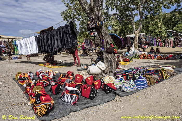 Things to do in Port Moresby - Colorful Bilums for sale at Four Mile Market