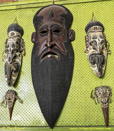 Traditional Masks at PNG Arts