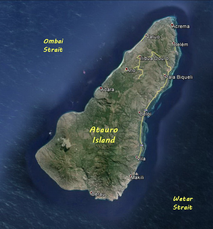Map of Atauro Island