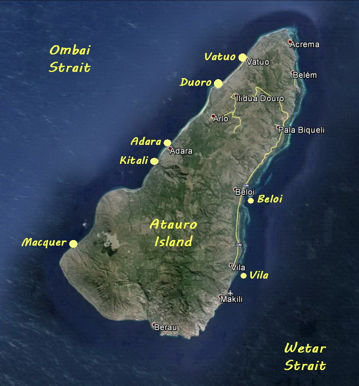 Diving Atauro Island - Atauro Island Dive Site Map