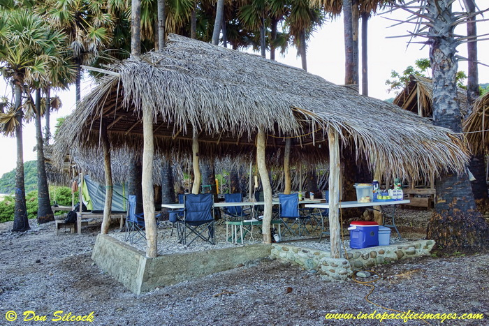 Places to stay on Atauro Island - Bush style eating area at Adara Eco-Camp