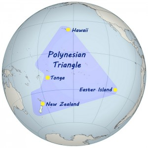 The Complete Guide to the Humpback Whales of Tonga - Map of the Polynesian Triangle
