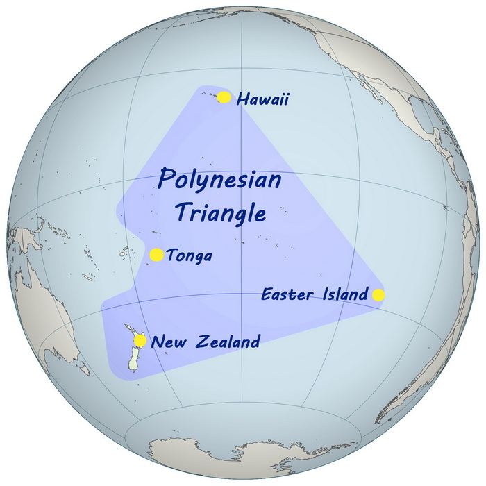 Map of the Polynesian Triangle