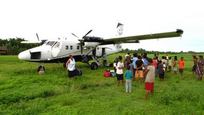 Oro Province in WWII - Wanigela air strip in 2009