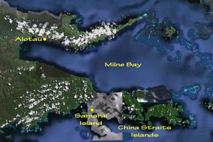 Milne Bay Scuba Diving Guide - Map of Milne Bay