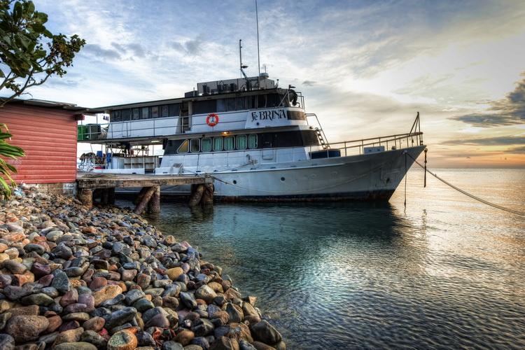 Febrina - at anchor in Kimbe Bay