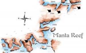 Tofo Dive Sites - Manta Reef Dive Site Map