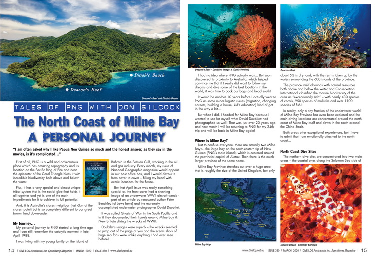 Diving the North Coast of Milne Bay